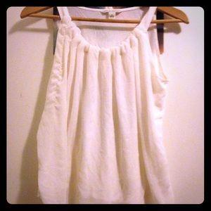 Banana republic white flowy blouse top